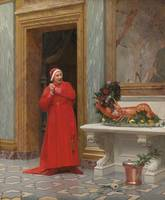 Jehan Georges Vibert, FRENCH, BOTH RED DRESSES