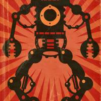 Giant Robot poster Art Prints & Posters by Matthew Laznicka