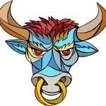 """Angry Bull Head Mosaic"" by patrimonio"