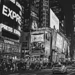 """Times Square in New York City in Black and White"" by lillisphotography"