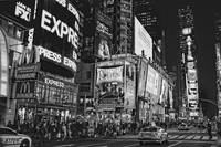 Times Square in New York City in Black and White