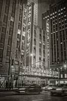 radio city music hall in sepia