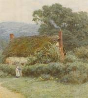 Helen Allingham, R.W.S. 1848-1926 A SUSSEX COTTAGE