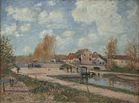 The Bourgogne Lock at Moret, 1882