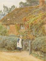Helen Allingham, R.W.S. 1848-1926 AT THE COTTAGE G