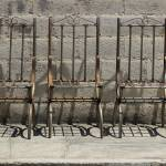 """Welded Metal Chairs"" by rhamm"