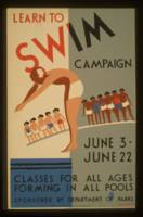 Vintage poster - Learn to swim