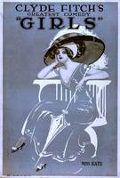 Girls-Broadway-Show-by-Clyde-Fitch-Vintage-Poster-