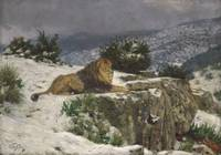 Géza Vastagh (Hungarian, 1866-1919)  A Lion in the