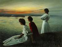 Harald Slott-Møller,  Midsummer - Three young ladi
