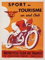 Vintage poster - Motocycle Club de France
