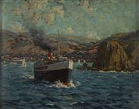 Granville Redmond - Steamer leaving Avalon, Catali