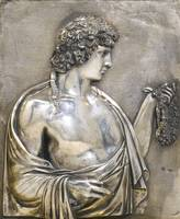 An Italian silver plaque depicting Antinous, Pietr