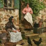"""Albert Chevallier Tayler - Feeding Time 1884"" by motionage"
