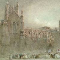 """Albert Goodwin  A procession by the north porch o"" by Adam Asar"