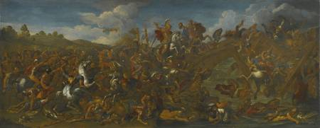 After Charles Le Brun THE BATTLE OF MILVIAN BRIDGE
