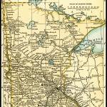 """Minnesota Antique Map 1891"" by WilshireImages"