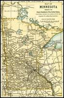Minnesota Antique Map 1891