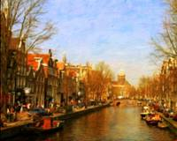Landscape of Amsterdam Canal