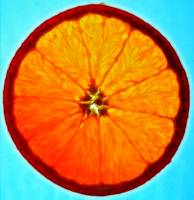 Orange Slice With Blue