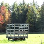 """Hay Wagon in freshly cut field"" by RobertGosselin"