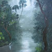Misty Loxahatchee River Art Prints & Posters by Mazz Original Paintings