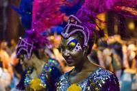 Costumed Dancer Woman at Carnival Parade
