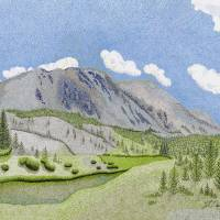 Beyond Mount Antero Art Prints & Posters by Judy Newcomb