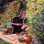 """WOODEN GARDEN CHAIR"" by DavidLloydGlover"