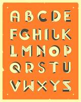 Impossible Alphabet - Orange