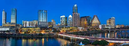 Austin Skyline Twillight Panorama