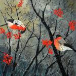 """Red birds"" by pol"