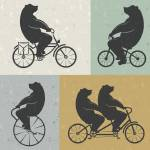 """Bears Riding Bikes"" by KWGart"