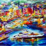 """Evening In Portofino Harbour Italy"" by GinetteCallaway"