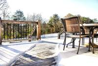 snowy Tennessee country backyard