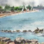 """Seascape Peaceful Harbor"" by IrinaSztukowski"