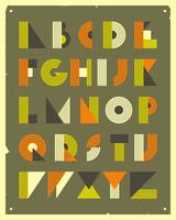 Retro Alphabet - Green