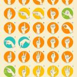 """American Sign Language Hand Alphabet"" by JazzberryBlue"