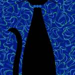 """Boomerang Cat in Blue"" by DMibus"