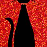 """Boomerang Cat in Red"" by DMibus"