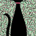 """Boomerang Cat in Pink and Green"" by DMibus"