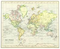 Vintage Map of The World (1899)