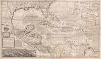 Vintage Map of The Caribbean (1732) 2