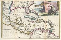 Vintage Map of The Caribbean (1747)