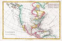 Vintage Map of North America (1780)