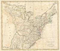 Vintage Map of Early America (1799)