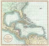 Vintage Map of The Caribbean (1803)