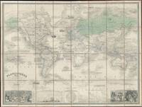 Vintage Map of The World (1857) 2