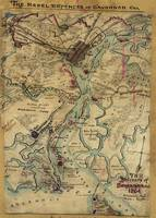 Vintage Savannah Georgia Civil War Map (1864)