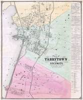 Vintage Map of Tarrytown New York (1868)